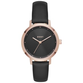 Dkny Ladies' the Modernist Ny2641 Black Strap Watch