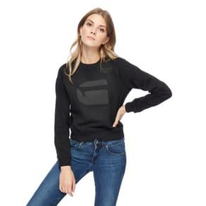 G-Star Black Logo Print Sweater
