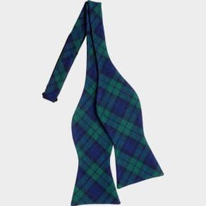 Tommy Hilfiger Green Plaid Self-Tie Bow Tie