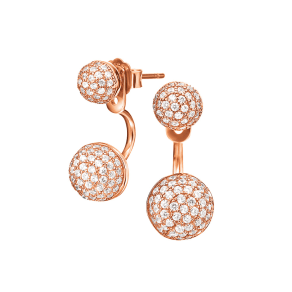 Fashionably Silver Essentials Rose Gold Oval Drop Earrings