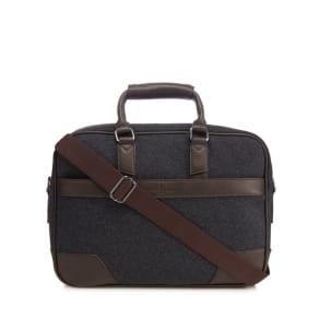 Jeff Banks Dark Grey Laptop Bag