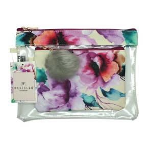 Danielle Creations Watercolour Floral Set of 2 Travel Bags