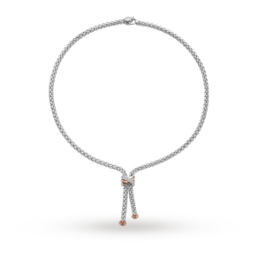 Fope 18ct White Gold Solo 0.20ct Diamond Necklace