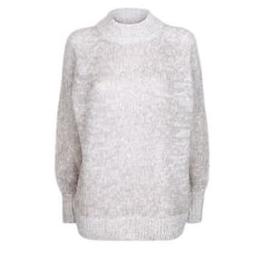 Pale Grey Ribbed Cuff Longline Jumper New Look