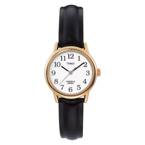 Timex Ladies' Black Leather Strap Watch