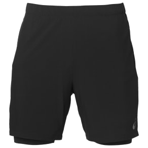 Asics 2 in 1 Running Shorts, Performance Black