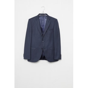 Blue Dogtooth Suit Jacket - Blue