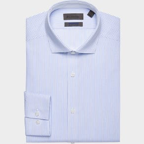 Calvin Klein Infinite Non Iron Saphire Stripe Slim Fit Dress Shirt
