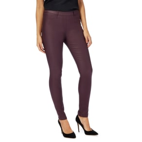 The Collection Purple Coated Jeggings