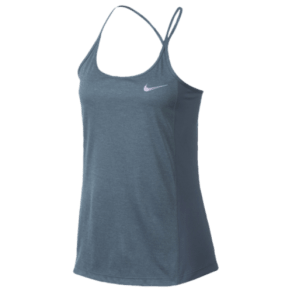 Womens Nike Dri-Fit Miler Tank - Armory Blue/Heather