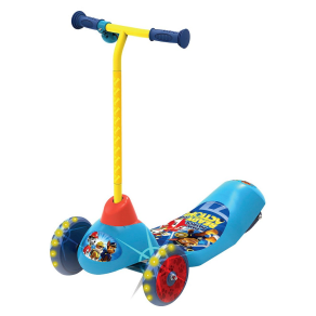Pulse Nickelodeon Paw Patrol Safe Start Electric 3 Wheel Scooter, Blue/Yellow/Red