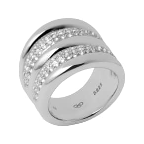 Links of London Hope Wide Pave Topaz Ring