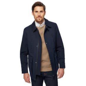 J by Jasper Conran Big and Tall Navy Collared Jacket