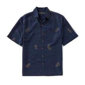 Caribbean Pine Short-Sleeve Woven Shirt