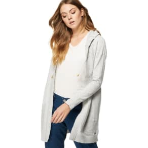 Mantaray - Grey Hooded Longline Cardigan