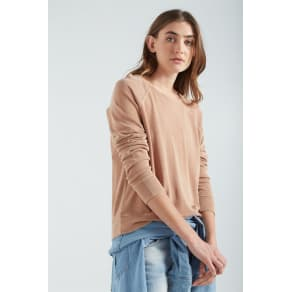 Cotton on Women - Light Weight Crew Pullover - Light Rust Washed