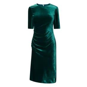 Kara Green Velvet Dress