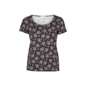 Floral Print TShirt with Back Split