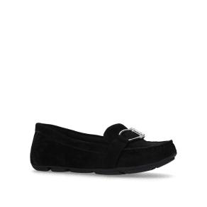 Anne Klein Black 'Petra' Flat Slip on Loafers