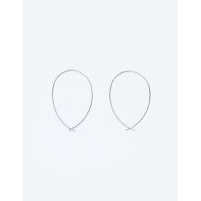 Lane Bryant Women's Infinity Hoop Earrings Onesz Silver Tone