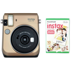 Instax Mini 70 Camera With 10 Shots - Gold