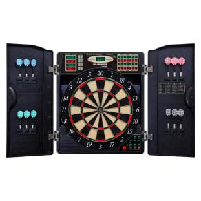 Bullshooter by Arachnid E-Bristle 1000 Led Electronic Dartboard Cabinet Set, Multi-Colored