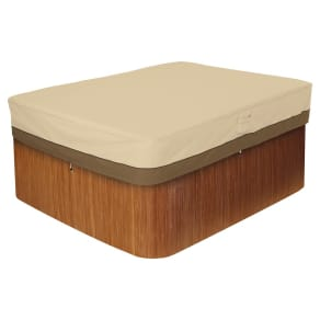Veranda Large Rectangular Hot Tub Cover - Light Pebble - Classic Accessories