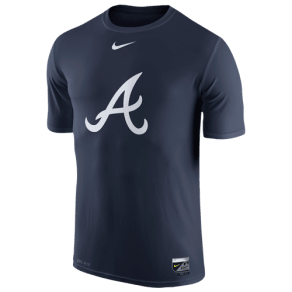 Atlanta Braves Nike Mlb Ac Dri-Fit Legend Logo T-Shirt - Mens - Navy