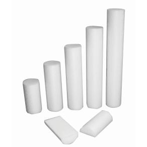 """Cando Foam Roller - White Pe Foam - 4"""" X 36"""" - Round"""