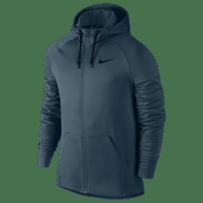 Nike Therma Full Zip Hoodie - Mens - Space Blue/Black