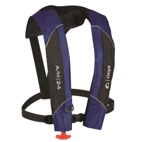 Onyx Outdoor M-24 Insight Manual Inflatable Life Jacket Blue