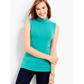 Talbots Women's Sleeveless Turtleneck Sweater