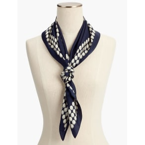 Talbots: Silk Strands of Pearl Square Scarf