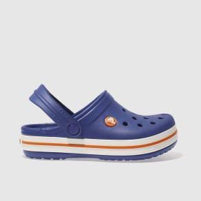 756ba636e Crocs Blue Crocband Clog Trainers Junior