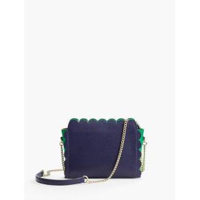 Talbots Women's Plano Scalloped Leather Crossbody Bag