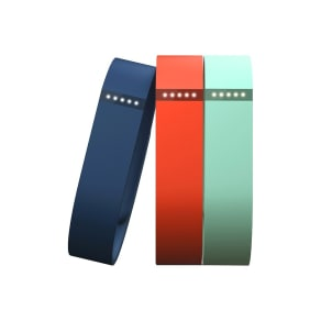 Fitbit - Flex Classic Replacement Bands (3-Count - Small) - Blue/Tangerine/Teal, Multicolored