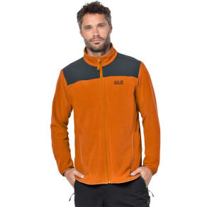 Jack Wolfskin Fleece Jacket Men Performance Flex Jacket Men Xl Orange