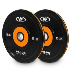 Valor Fitness Bpp-15 10lb Bumper Plate Pro -2pk, Black