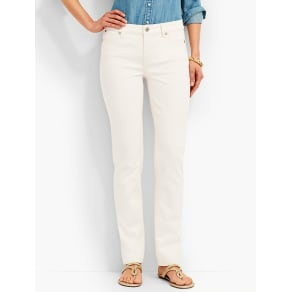 Talbots Women's the Flawless Five Pocket Straight Leg: Vanilla