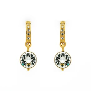 Lilli & Koe Gold Crystal Drop Earrings, N/A