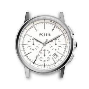 Fossil Rowen Chronograph Stainless Steel Watch Case  Silver