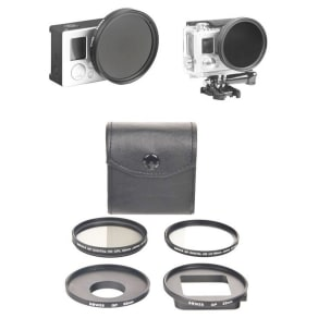 Bower Xtreme Action 5-Piece Gopro Filter Kit - Gray/ Black (Scb1350)