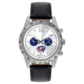 Men's Game Time Nhl Letterman Sports Watch - Black - Columbus Blue Jackets
