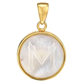 Women's Asha Mother-Of Pearl Initial Charm