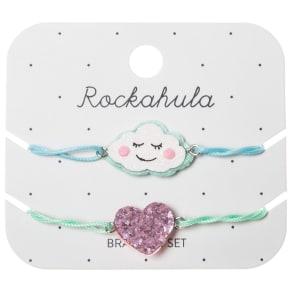 Rockahula Girls' Glitter Sleep Cloud Bracelet Set, Pack of 2