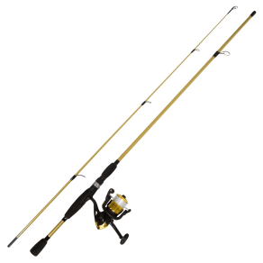 Wakeman Fishing Rod Spinning Rod and Reel Combo - Trophy Gold Strike Series, Bright Gold