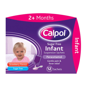 Calpol Sugar Free Infant Suspension Sachets - 12