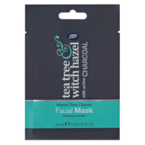 Boots Tea Tree & Witch Hazel Charcoal Face Mask 10ml