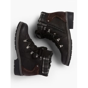 Talbots Women's Blondo(r) Plaid Collar Hiking Boots