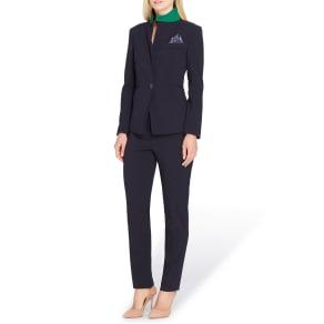 Tahari Asl Petite Contrast Collar Pant Suit